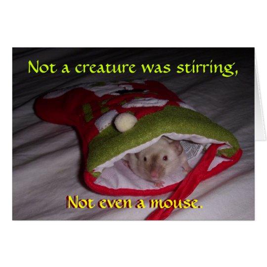 Tarjeta de Navidad: No incluso un ratón