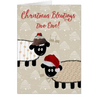 Tarjeta de Navidad - oveja divertida