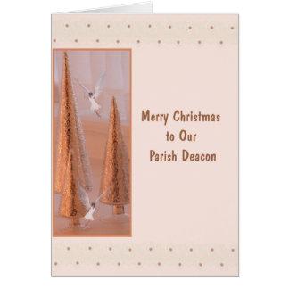 Tarjeta de Navidad para el oro del diácono con