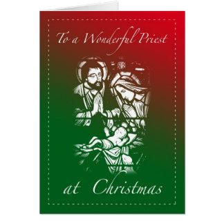 Tarjeta de Navidad para el sacerdote