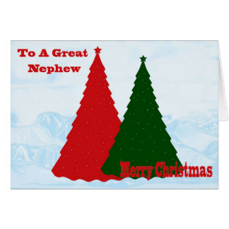 Tarjeta de Navidad para el sobrino