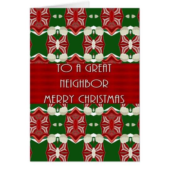 Tarjeta de Navidad para el vecino