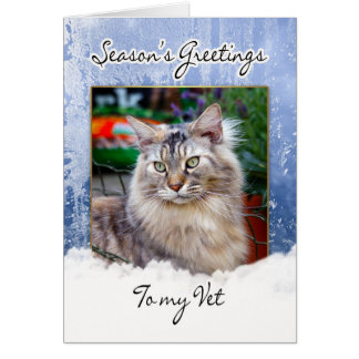 Tarjeta de Navidad para el veterinario - tarjeta d