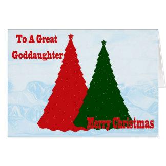 Tarjeta de Navidad para la ahijada