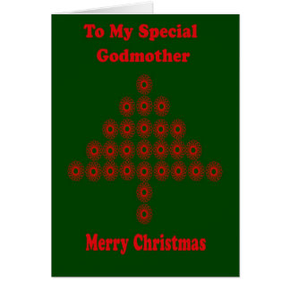 Tarjeta de Navidad para la madrina