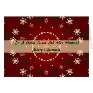 Tarjeta de Navidad para la sobrina y el marido