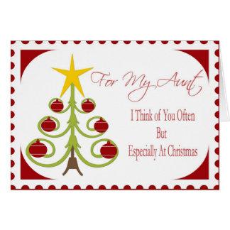 Tarjeta de Navidad para la tía