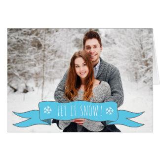 ¡Tarjeta de Navidad personalizada - añada su foto! Tarjeta De Felicitación