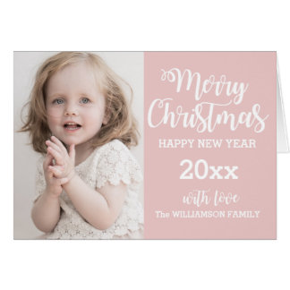 Tarjeta de Navidad personalizada de la foto de