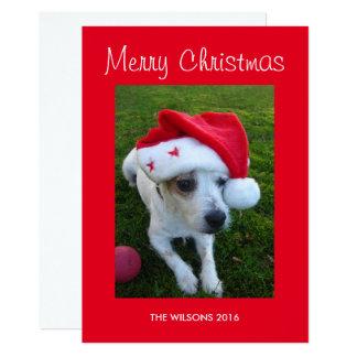 Tarjeta de Navidad personalizada de la foto del