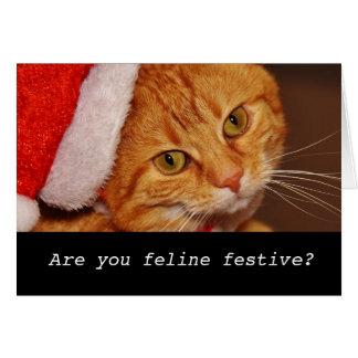 Tarjeta de Navidad personalizada divertida del