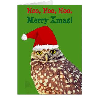 Tarjeta de Navidad personalizada Santa del búho