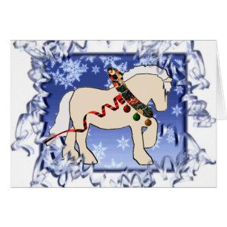 Tarjeta de Navidad poner crema de la cinta