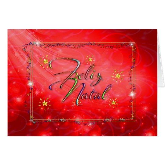tarjeta de Navidad portuguesa roja