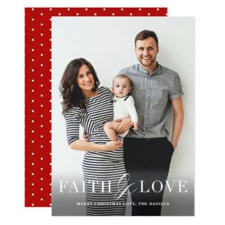 Tarjeta de Navidad religiosa de la foto de la fe y