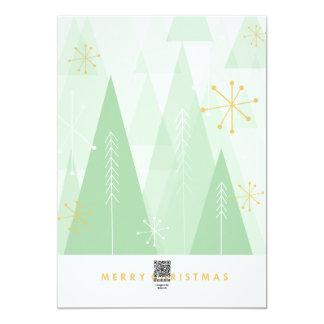 Tarjeta de Navidad retra Invitación 12,7 X 17,8 Cm