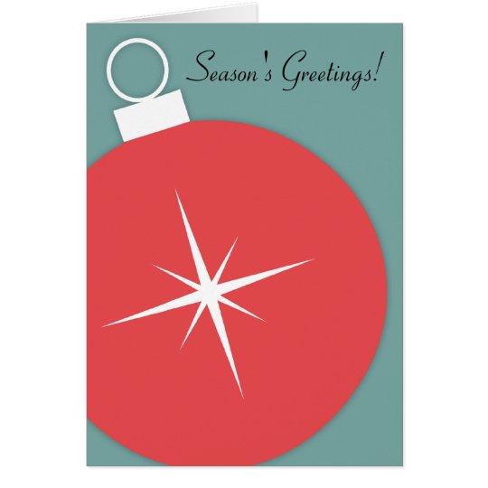 Tarjeta de Navidad retra - ornamento de Starburst