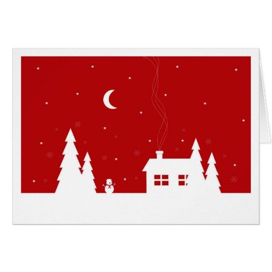 Tarjeta de Navidad roja