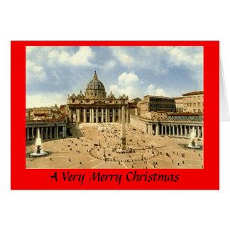 Tarjeta de Navidad - Roma, Vatican