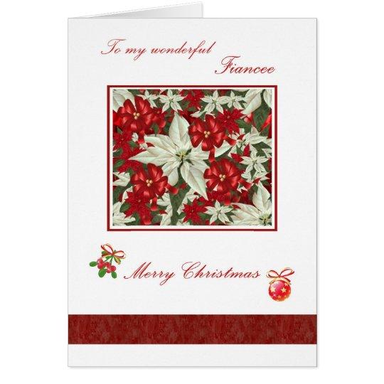 Tarjeta de Navidad romántica para el prometido -