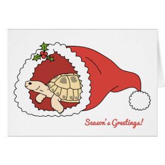 Tarjeta de Navidad rusa adaptable de la tortuga