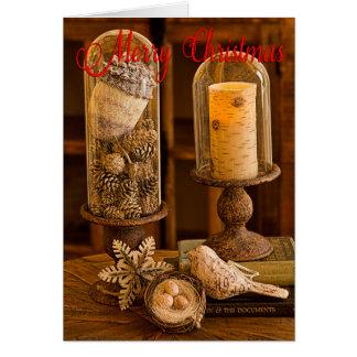 Tarjeta de Navidad rústica del Cloche