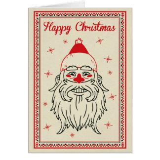Tarjeta de Navidad - Santa hace frente