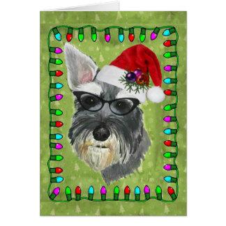 Tarjeta de Navidad (Schnauzer)