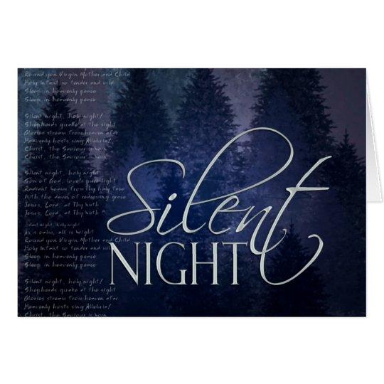 Tarjeta de Navidad silenciosa de la noche