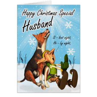 tarjeta de Navidad silenciosa de la noche del