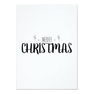 Tarjeta de Navidad simple y elegante