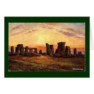 Tarjeta de Navidad - Stonehenge