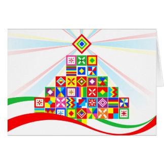 Tarjeta Tarjeta de Navidad tribal del arte africano del