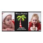 Tarjeta de Navidad tropical de la foto de la palme Tarjetas Fotograficas