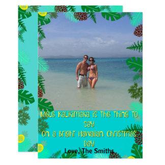 Tarjeta de Navidad tropical de la playa de Mele