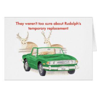 Tarjeta de Navidad verde del macho de Triumph