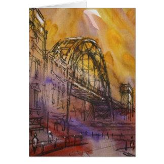 Tarjeta de Newcastle del puente de Tyne