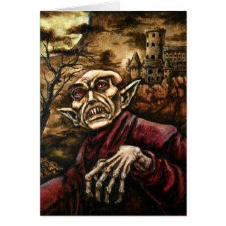 Tarjeta de Nosferatu Halloween