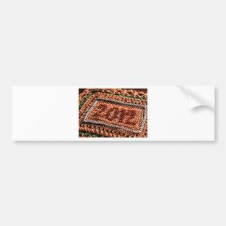 Tarjeta de nota 2012 etiqueta de parachoque