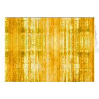 Tarjeta de nota abstracta coloreada amarillo del