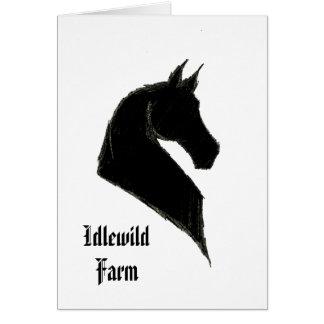 Tarjeta de nota adaptable de Saddlebred