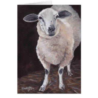 Tarjeta de nota animal del arte de las ovejas