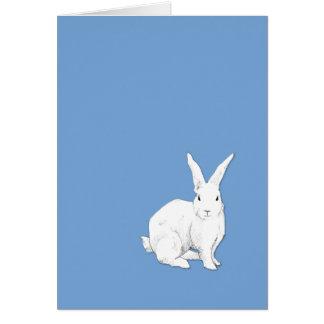 Tarjeta de nota azul del conejo