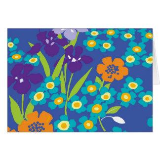 tarjeta de nota azul del iris japonés del iris