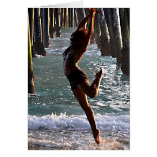 TARJETA DE NOTA:  Bailarín en el océano