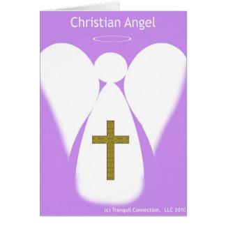 Tarjeta de nota cristiana del ángel