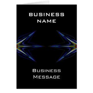 Tarjeta de nota de alta tecnología del negocio