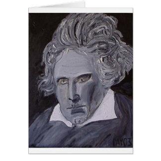 Tarjeta de nota de Beethoven