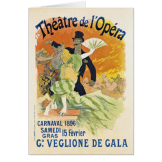 Tarjeta de nota de Carnaval 1896