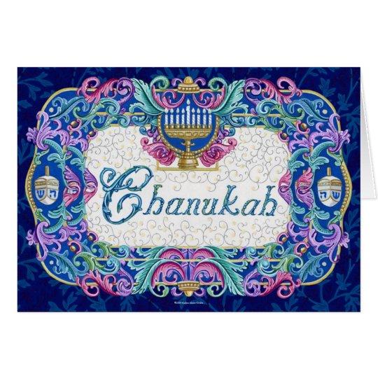 Tarjeta de nota de Chanukah